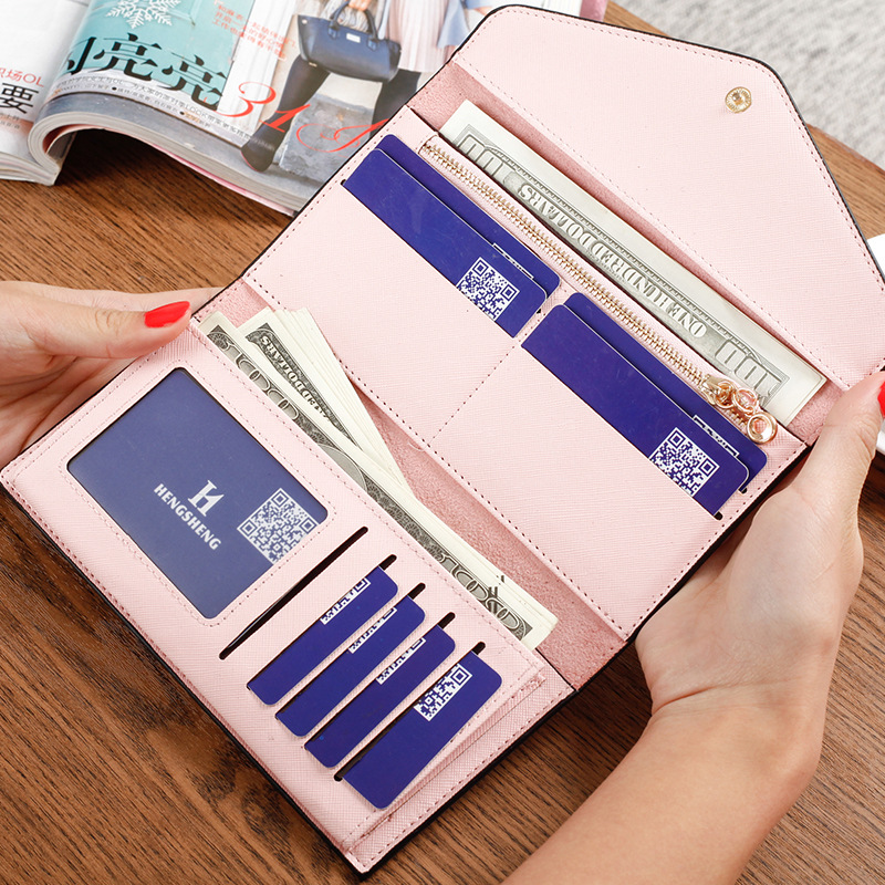 Hot sale women wallets 2018 brand PU leather hit colorful long ladies coin purse card holder bag hasp 3fold clutch design pocket flower women s coin purse ladies clutch wallet phone bag long card holder zipper bag pu leather ladies wallets zipper clutch bag