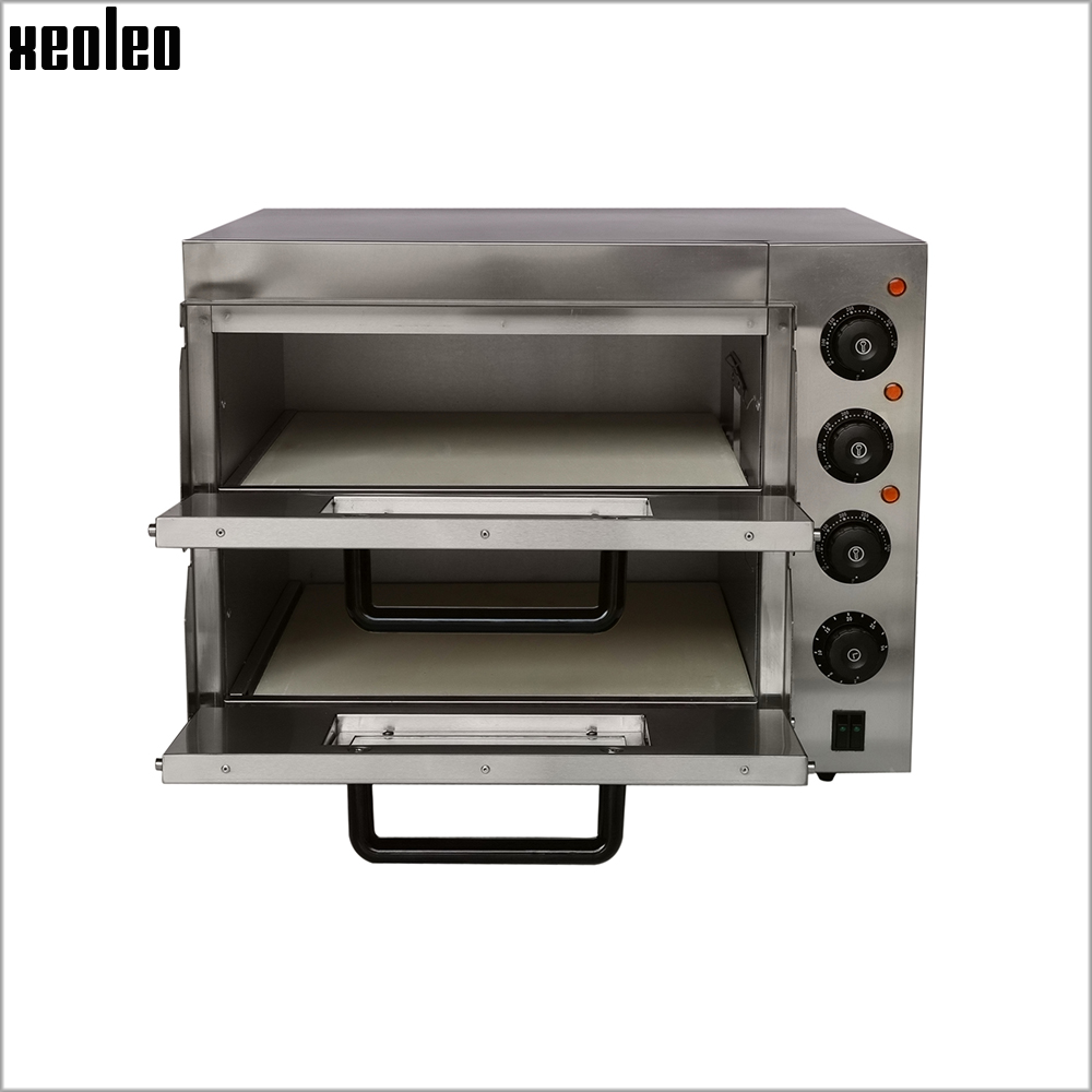 XEOLEO Commercial Pizza oven Double layer 16inch Electric Pizza Oven Stainless steel Pizza baker 3000W Horizontal Baking machine цена и фото