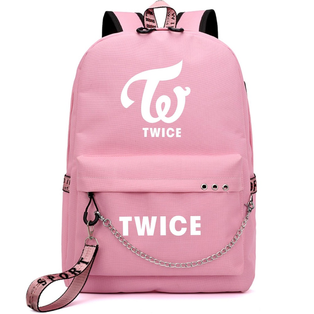 Men's Bags Seventeen 7 Korean Star Usb Backpack Men Women Canvas School Book Bags Laptop Backpack Mochila Feminina Boy Girls