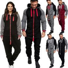 HIRIGIN Unisex Adult Women Warm Winter Clothes Fashion Men Lady Jumpsuit Tracksuit Long Sleeve Hooded Zipper Playsuit