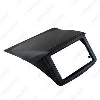 FEELDO 2DIN Stereo Paneli Montaj Trim Kiti Çerçeve Fasya Ile 1DIN Spacer Cep Mitsubishi Pajero Spor Için/Montero Sport