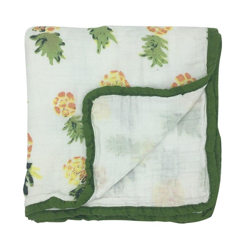 2 schicht Baby Decken Neugeborenen Swaddle Wrap Verdicken Musselin Baumwolle Swaddle Neugeborenen Windeln Baby Bettwäsche Empfang decke