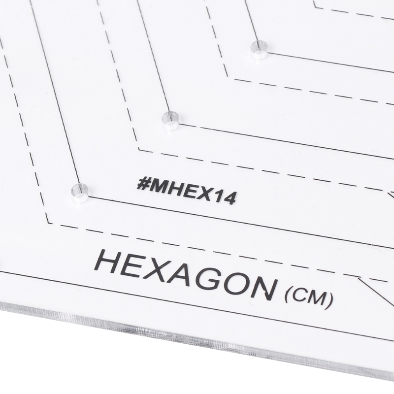 Heimgebrauch Hexagon Quilten Lineal Patchwork Kunststoff Vorlage DIY ...