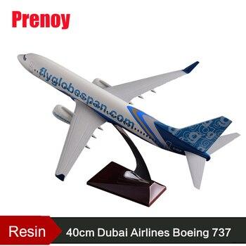 40cm Resin B737-800 Flyglobespan Airlines Model Boeing 737-800 Static Aircraft Model Flyglobespan Airplane Airways Model Gift