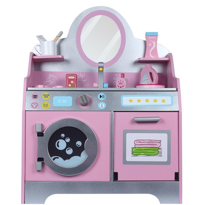 Nouveaux enfants simulé en bois princesse coiffeuse Table à laver filles recevoir boîte à bijoux jouets lavage gargarisme