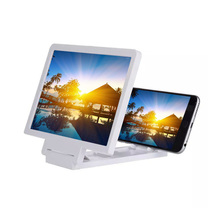 3D Movie Screen Enlarge Magnifier Folding Stand For Mobile Phones White