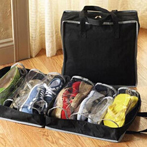33a63d54f3eec US $1.85 25% OFF|Portable Home Travel Luggage Shoes Storage Bag Waterproof  Clothing Zipper Dust Bags Packing Drawstring Shoes Bag Case Organizer-in ...