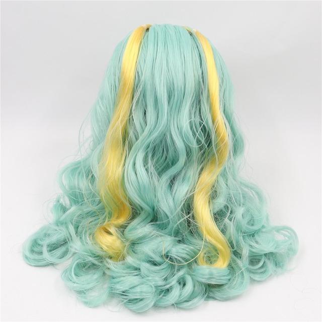 Neo Blythe Doll Scalp & Dome Wavy Hair Wigs