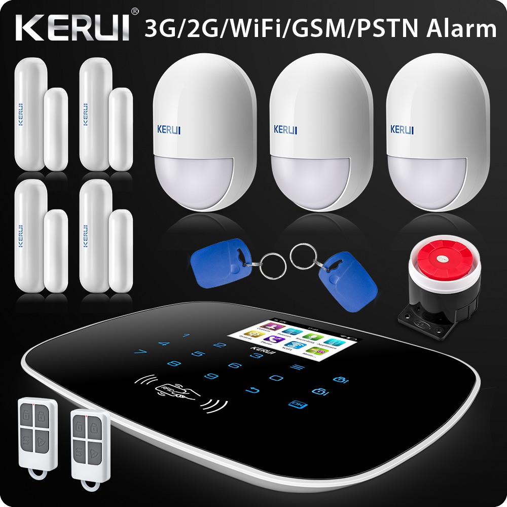 New Arrival 2018 W193 3G WIFI PSTN GSM SMS Home Burglar LCD GSM SMS Touch Screen Alarm Panel Home Security Alarm System yobang security touch screen 3g gsm alarm system wifi sms smart home burglar alarm with ip camera for baby pet elder monitor
