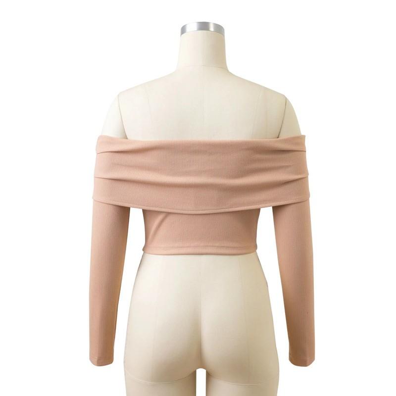 HTB1EiMvOFXXXXcfXVXXq6xXFXXXp - Women Slash Neck Off Shoulder Crop Top Long Sleeve Sexy JKP024