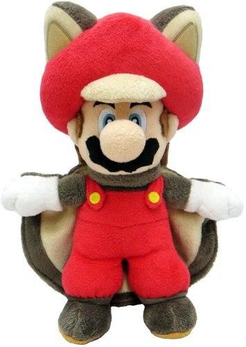 슈퍼 마리오 부드러운 봉제 동물 인형 봉제 장난감 다람쥐 Musasabi 마리오