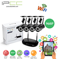 Ipcc 4ch nvr 960 p wifi de red ip video record ir al aire libre wifi Cámara ip Sistema de Seguridad CCTV Home video Vigilancia kits