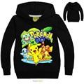 Осенняя одежда  детские футболки с капюшоном и принтом «Pokemon»  одежда для мальчиков с героями мультфильмов «Pikachu Charmander»  хлопковая одежда дл...