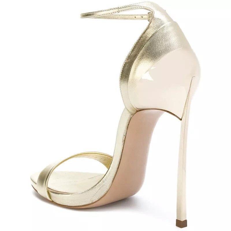 Sposa Cocoafoal Da Modo Argento Oro Sandali Sexy Tacco Formato Gladiatore Del Più 33 argento Altezza 43 Oro Delle Partito Donne Scarpe Il WHIE9D2