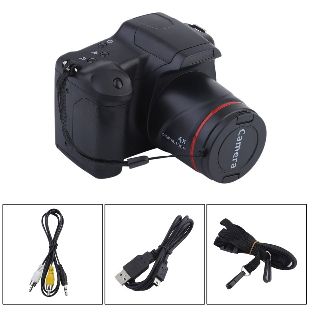 цена на Portable HD Digital Camera CMOS Manual Medium/Long Focus Optical Zoom SLR Operation Home Usage Anti-Shake DV Camcorder