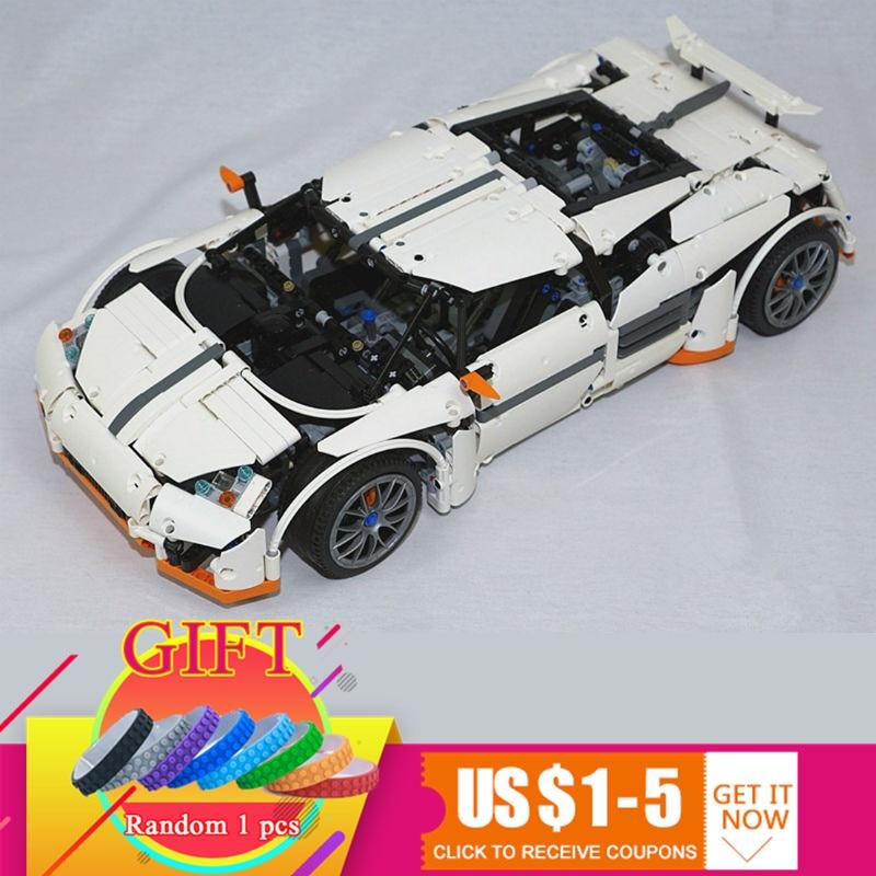 20052 1950Pcs Technical Series The Predator Supercar Set MOC-2811 Building Blocks Bricks toy Model Toys for Kids