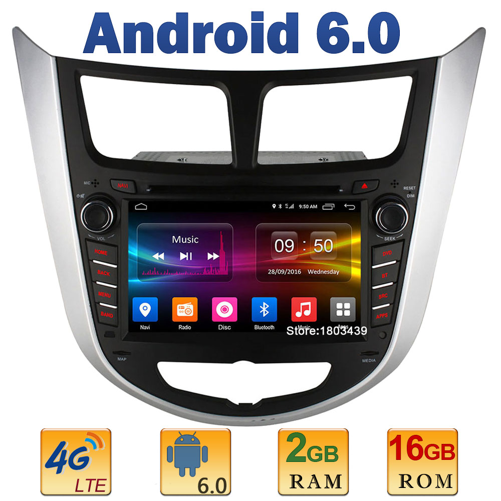 7 Quad Core 2GB RAM 4G LTE SIM WIFI Android 6 0 Car DVD Player Radio