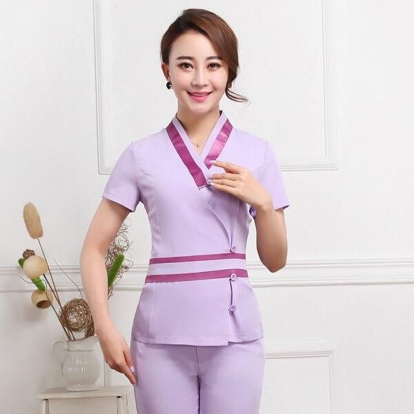 Popular beauty uniforms buy cheap beauty uniforms lots for Spa ladies uniform