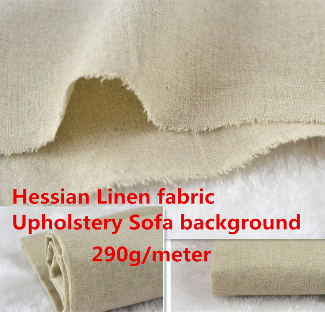 Wholesale 8meter Natural Handmade Linen Fabric For Patchwork Sewing