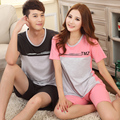 New summer pyjamas for women and men cotton casual lovers sleepwear plus size M-XXXL pijama de mujer la pijama de hombre