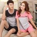 Novos pijamas de verão para mulheres e homens de algodão amantes casuais sleepwear plus size M-XXXL pijama de pijama de la mujer hombre