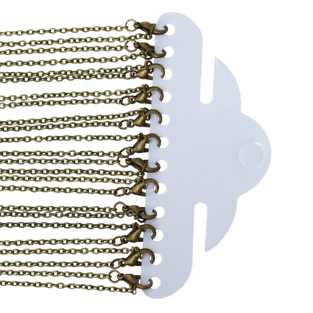 2019 Mode 8 Jahreszeiten Schmuck Halskette Antike Bronze Kabel Ketten Blei Und Nickel Sicher Karabinerverschluss Pullover Kette Diy Für Frauen 62 Cm 12 Pcs 100% Original