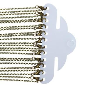 8SEASONS Jewelry Necklace Antique Bronze Cable Chains Lead and Nickel Safe Lobster Clasp Sweater chain DIY For Women 62cm 12 Pcs