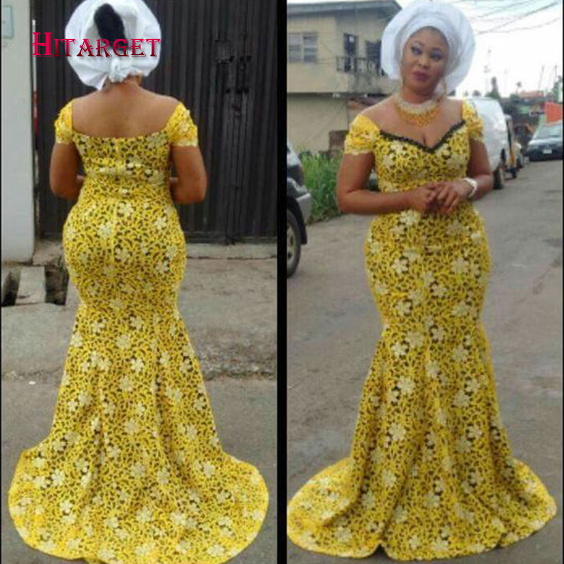 Nigerian Traditional Wedding Dresses: Hitarget African Lace Fabric Wedding Dresses For Women