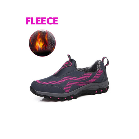 New Womens Outdoor Shoes Warm Winter Fleece Shoes four season Hiking shoes Women Slip-on non slip Walking Shoes no lace sneakers Karachi