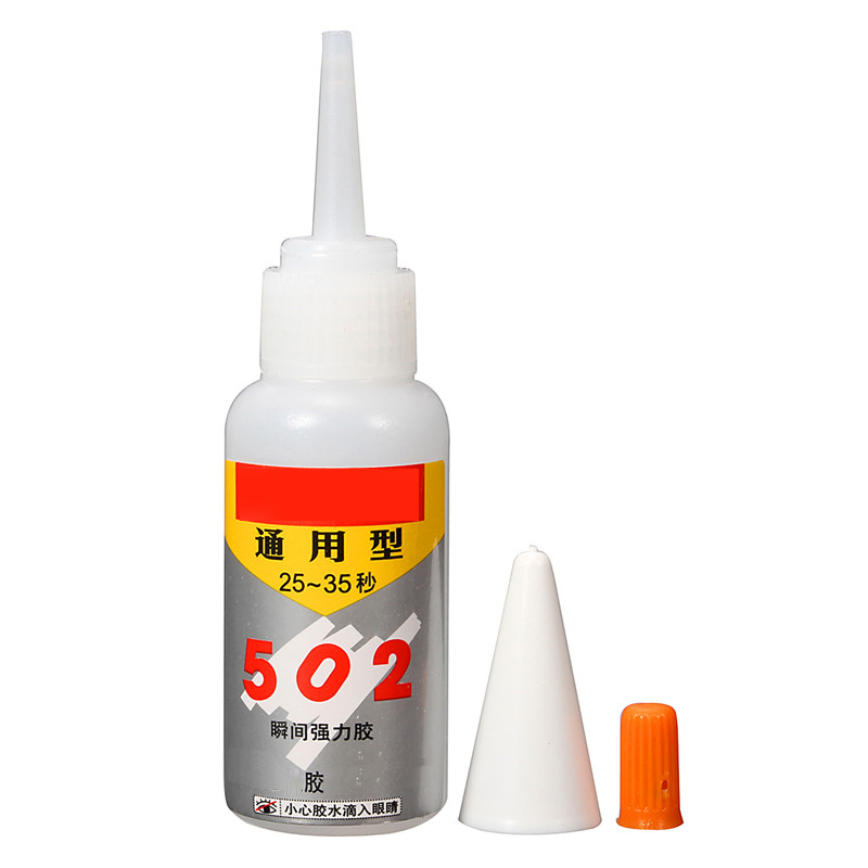 1PCS Brand NEW Super Glue Instant Quick-drying Adhesive Strong Bond Fast For Leather Rubber Metal 502 Glue
