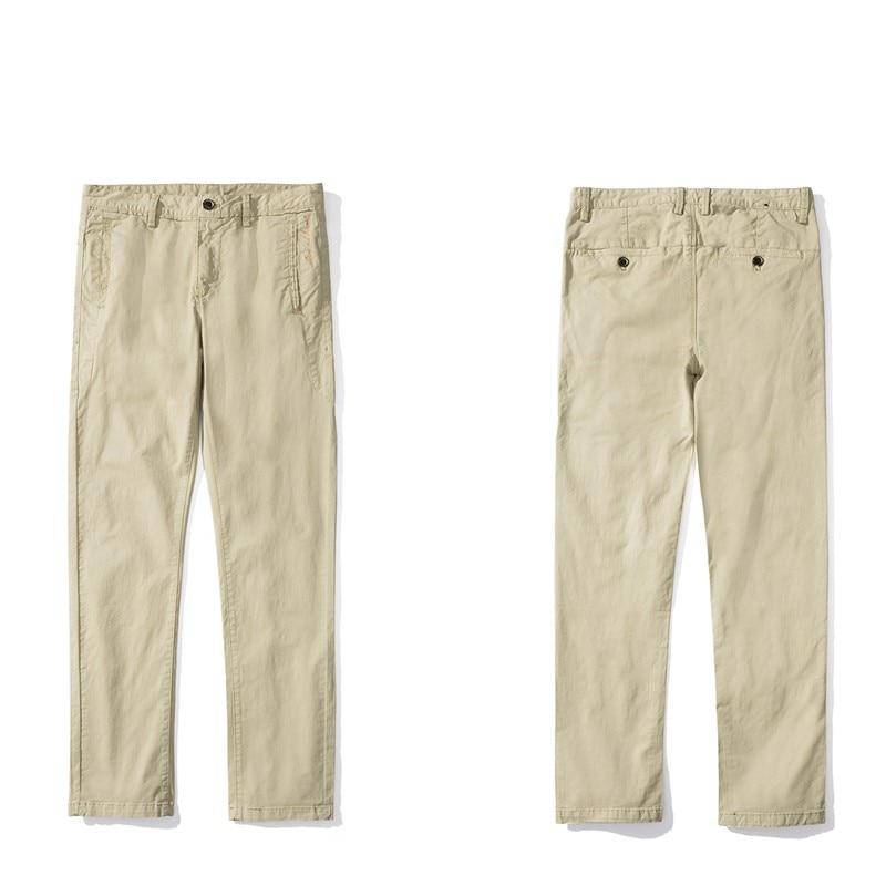 Мужские повседневные брюки 2019 Весна Новые прямые простой узкая нога свободные штаны Европейский Стиль подходит для вечерние работа путешествия знакомства - 6