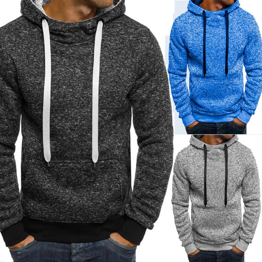 Autumn Winter Men's Hoodies Fashion Solid Color Slim Fit Hoodies Men Streetwear High Quality New Tops Hooded Male Casual Hood