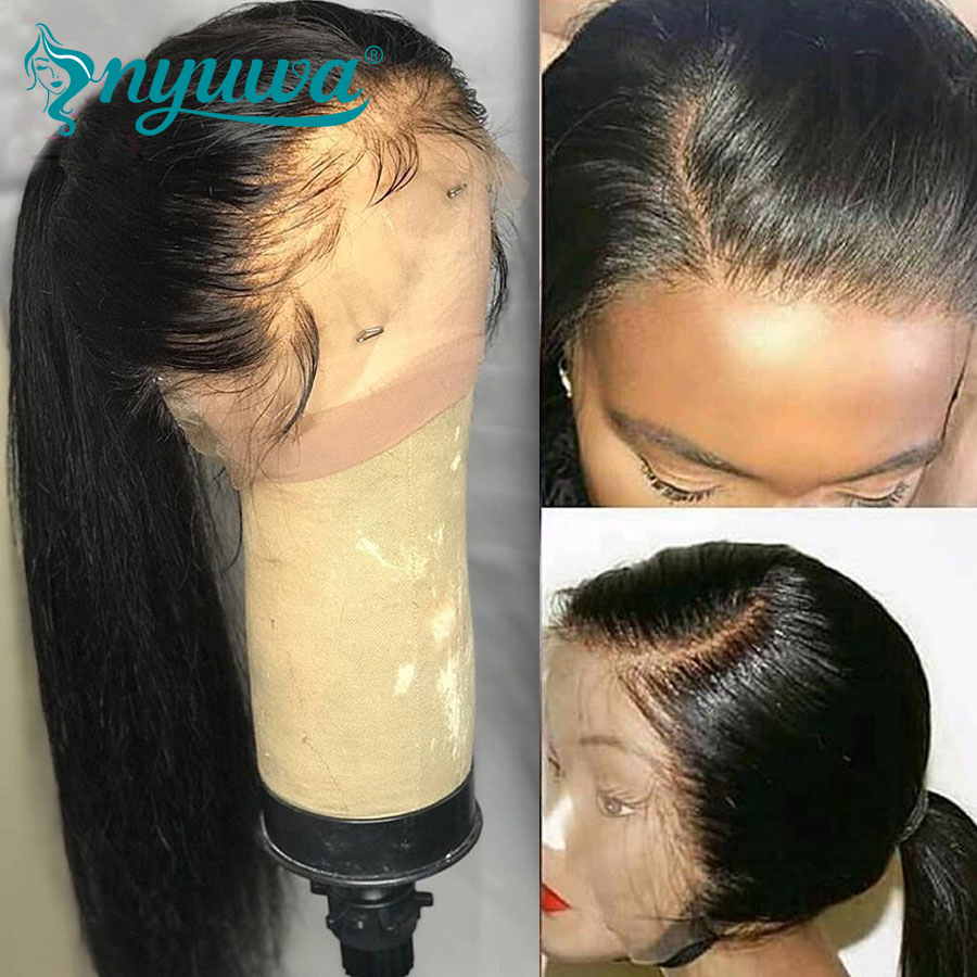 Elva Hair 180% Density Full Lace Human Hair Wigs Glueless Remy Hair Brazilian Straight Lace Wigs Pre Plucked Natural Hairline
