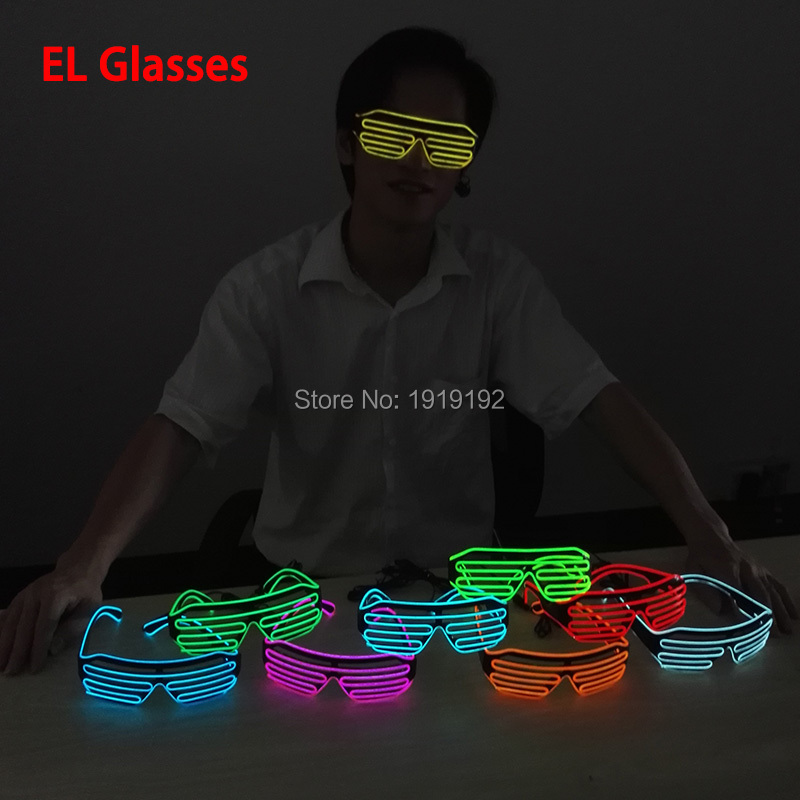 Sound Control Flashing EL LED Glasses Luminous Party Lighting Colorful Glowing Classic Toys For Dance DJ,Party Mask