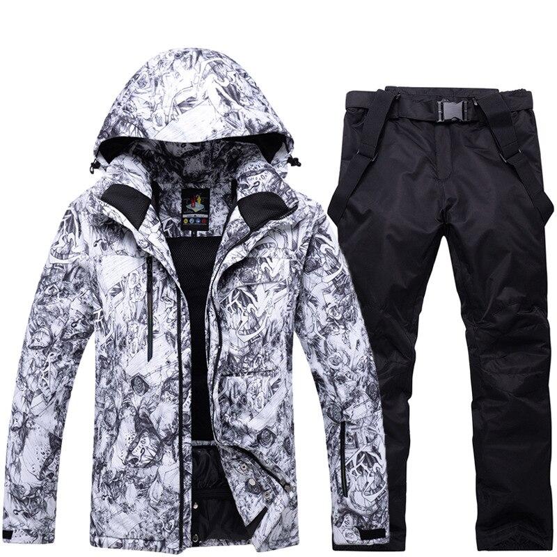 Vestes de Ski thermiques hommes vêtements de snowboard tenue de ville d'hiver veste de Ski de neige à capuche coupe-vent vêtements de Ski imperméables - 6