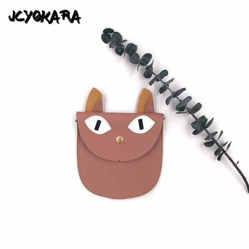 JCYOKARA 12pcs/lot Kids Small Cat Bag Adroable PU Big Eyes Cat Animal Messenger Bag Small Bag For Girl Children Accessories lps pet shop toys rare black little cat blue eyes animal models patrulla canina action figures kids toys gift cat free shipping