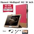 Для Huawei для Mediapad М2 tablet кожаный чехол для 10.0 M2-A10L/W поддержка куртка Мода Стенд Флип Кожа PU Крышка случая