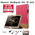 For Huawei to Mediapad M2 tablet leather case to 10.0 M2-A10L/W support jacket Fashion Stand Flip PU Leather Case Cover