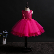 New pattern girl dress sleeveless tutu dresses wedding Wedding presiding Stage performance princess