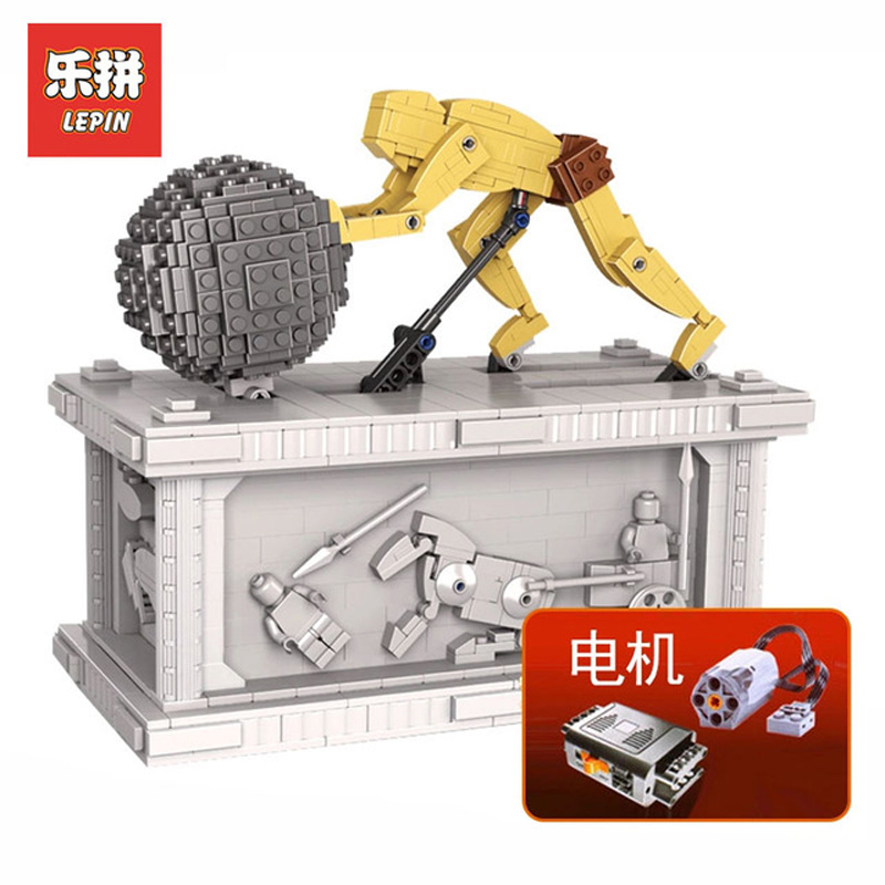 DHL Lepin Sets 23017 1462Pcs Movies Figures MOC Sisyphus Kinetic Sculpture Model Building Kit Blocks Bricks Educational Toy Gift new lepin 23017 1462pcs movie series moc le mythe de sisyphe building blocks bricks to holiday toys gift
