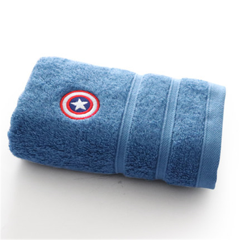 Disney Marvel Solid Cartoon 100 cotton adult face towel Men 39 s Travel sports home towel thick and soft Dropship in Face Towels from Home amp Garden