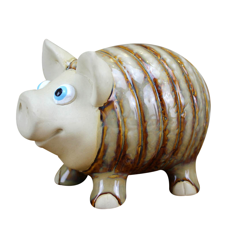 Creative Cute Ceramic Pig Figurine Ornament Porcelain Lucky Pig Miniature Desktop Craft Home Decor Accessories Kid Birthday Gift
