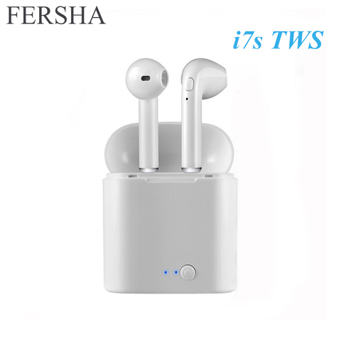 FERSHA I7s TWS Bluetooth wireless headset stereophone With charger Full Bluetooth for tablets and smartphone headsets Pakistan
