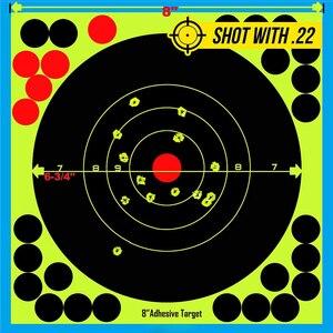 "Image 4 - Caça 8 ""reativo splatter auto adesivo alvo adesivos fluorescentes amarelo tiro prática adesivos para airsoft arma rifle"