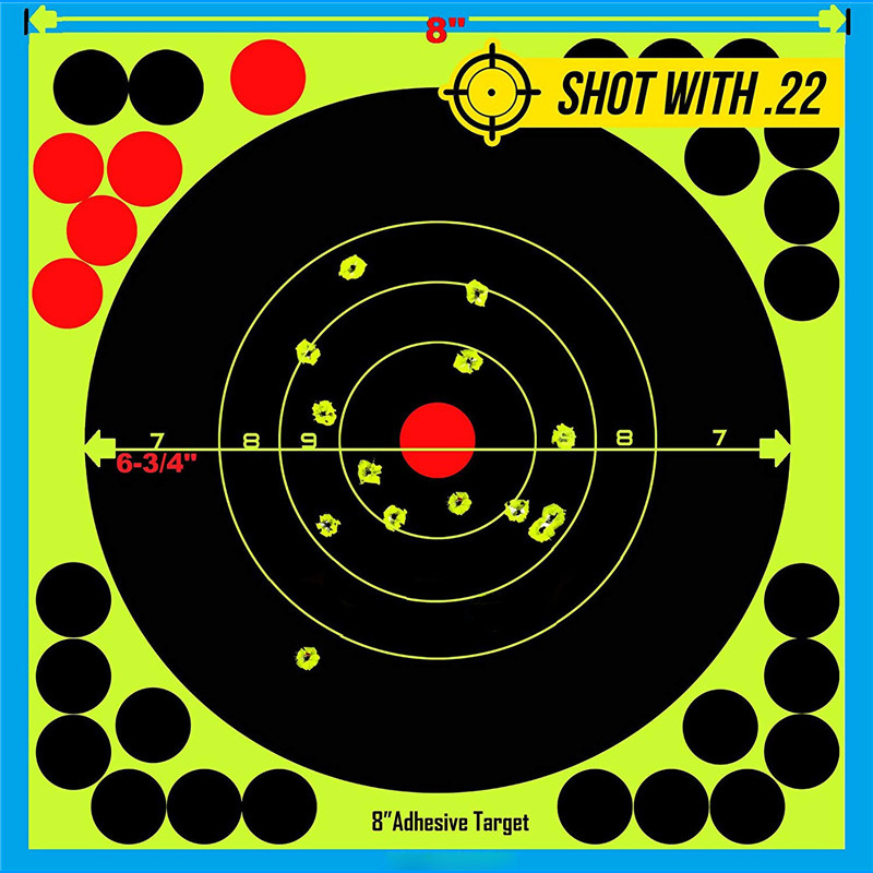"""Image 4 - Hunting 8"""" Reactive Splatter Self Adhesive target stickers Fluorescent Yellow shooting Practice stickers for Airsoft Gun Rifle-in Paintball Accessories from Sports & Entertainment"""