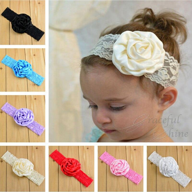 headband babygirls lace flower hair band infanthair accessories newborn headwear photo props diademas bebe