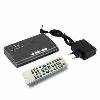 Più nuovo DVB-T/DVB-T2 TV Tuner Ricevitore Dvb-t/T2 TV Box VGA AV CVBS 1080 P HDMI HD digitale Satellitare ricevitore per LCD/CRT monitor