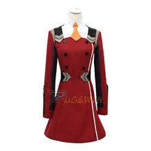 Anime DARLING in the FRANXX 02 Zero Two Cosplay Costume Uniform Suit Outfit