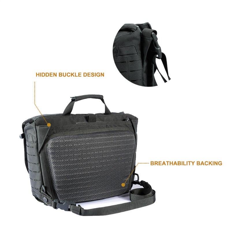 OneTigris HU sac de messager tactique armée militaire sacs à bandoulière pour hommes en plein air Molle pochette d'ordinateur pour la sauvage urbaine - 6