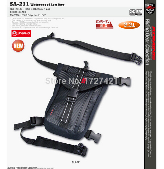 Wholesale 2016 Latest Komine SA 211 Motocross Leg bag Motorcycle waterproof waist bag Outdoor multifunctional cycling bag